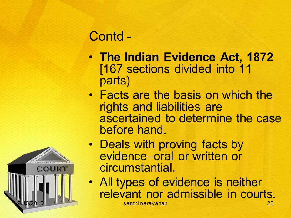 Difference between 'Relevancy' and 'Admissibility' under the Indian Evidence Act